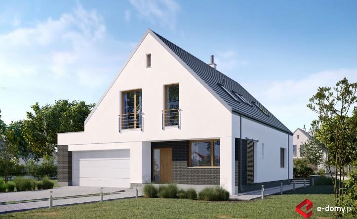 E-259 Dom z garażem i dwuspadowym dachem - wizualizacja